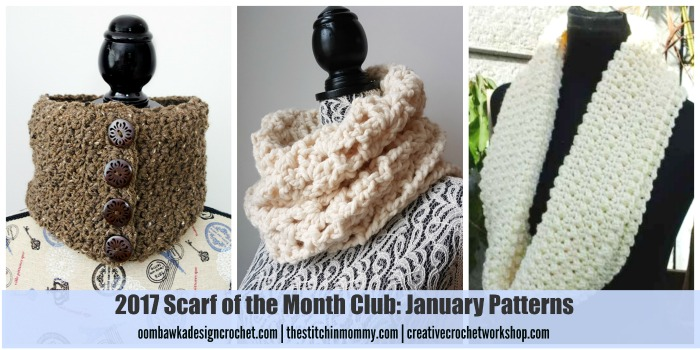 2017 Scarf of the Month Club January Patterns