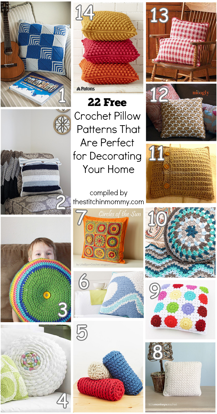 22 free crochet pillow patterns that are perfect for decorating 22 free crochet pillow patterns that are perfect for decorating your home compiled by the stitchin bankloansurffo Image collections