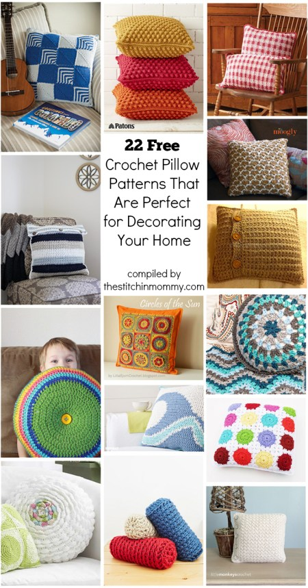 22 Free Crochet Pillow Patterns That Are Perfect for Decorating Your Home compiled by The Stitchin' Mommy | www.thestitchinmommy.com