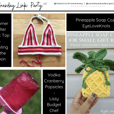 The Wednesday Link Party 409 featuring a Pineapple Soap Cozy