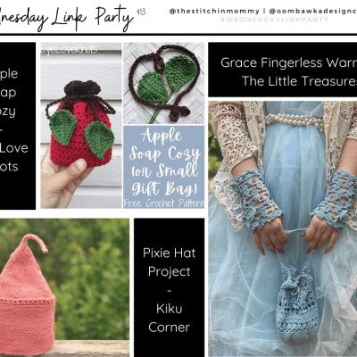 The Wednesday Link Party 413 featuring Grace Fingerless Warmers