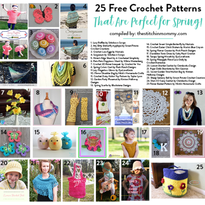 25 Free Crochet Patterns That Are Perfect for Spring!