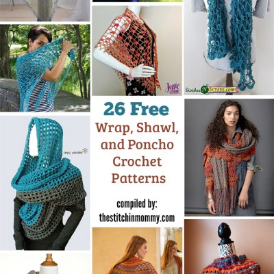 26 Free Wrap, Shawl, and Poncho Crochet Patterns