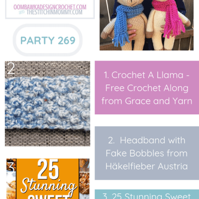 The Wednesday Link Party 269 featuring Crochet A Llama