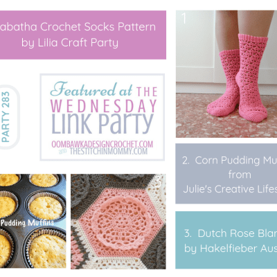 The Wednesday Link Party 283 featuring Tabatha Crochet Socks