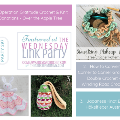 The Wednesday Link Party 297 featuring Operation Gratitude Crochet & Knit Donations