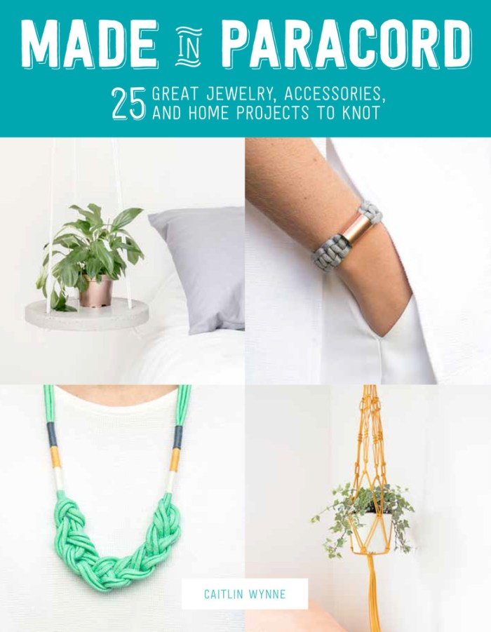 Made in Paracord: 25 Great Jewelry, Accessories, and Home Project to Knot - Book Review | www.thestitchinmommy.com