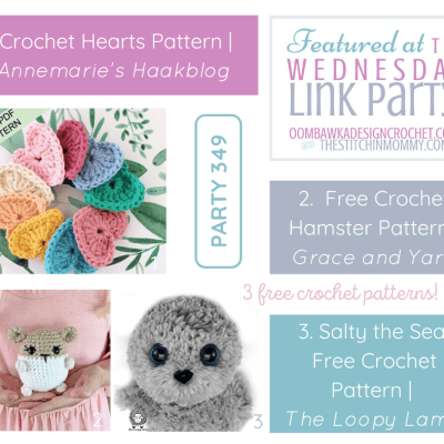 The Wednesday Link Party 349 featuring Crochet Hearts
