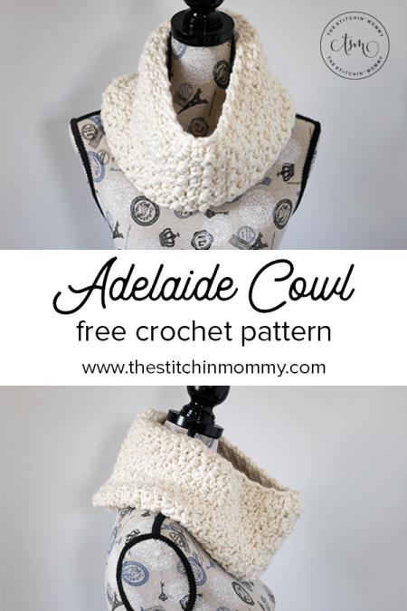 Adelaide Cowl - Free Crochet Pattern #ScarfHatoftheMonthClub2020 | www.thestitchinmommy.com