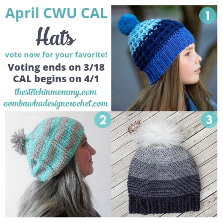 Month 4 April CWU CAL - Hats | www.thestitchinmommy.com