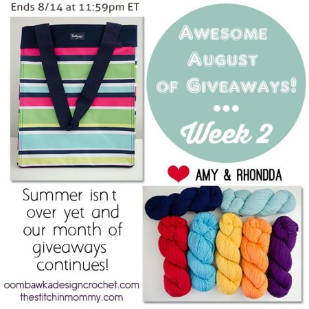 Awesome August of Giveaways - Week 2: Thirty One Essential Storage Tote and Cascade 220 Yarn Giveaway | www.thestitchinmommy.com