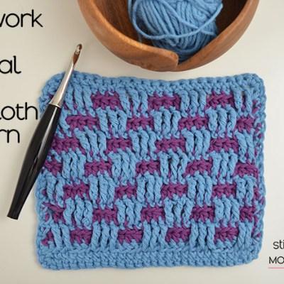 Brickwork Stitch Tutorial and Dishcloth Pattern