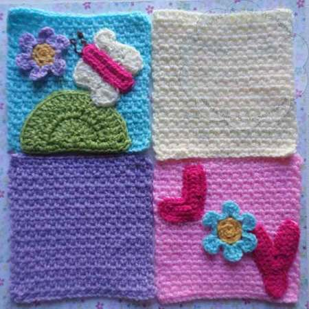 Butterfly and Joy Squares - Free Crochet Pattern by Creative Crochet Workshop exclusively for The Stitchin' Mommy | www.thestitchinmommy.com