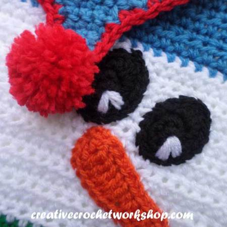 Snowman Afghan Square - Free Crochet Pattern by Creative Crochet Workshop for The Stitchin' Mommy | www.thestitchinmommy.com
