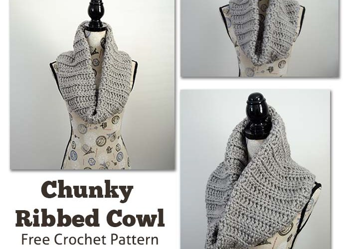 Chunky Ribbed Cowl – Free Crochet Pattern