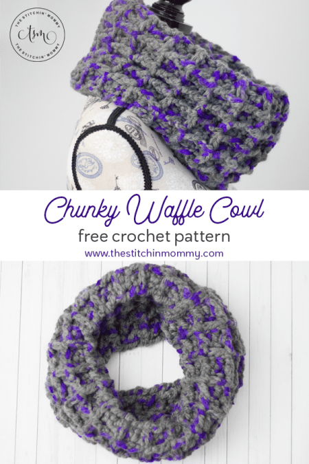 Chunky Waffle Cowl - Free Crochet Pattern | Scarf of the Month Club hosted by The Stitchin' Mommy and Oombawka Design | www.thestitchinmommy.com #ScarfoftheMonthClub2019