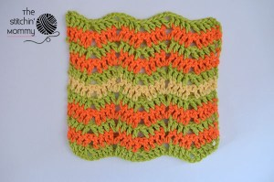 Let's Learn a New Crochet Stitch Pattern - Kitchen Crochet Edition: Citrus Splash Dishcloth - Free Crochet Pattern and Tutorial | www.thestitchinmommy.com