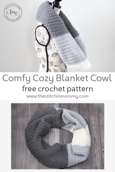 Comfy Cozy Blanket Cowl - Free Crochet Pattern | www.thestitchinmommy.com