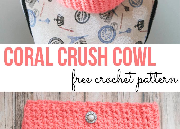 Coral Crush Cowl – Free Crochet Pattern