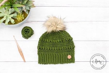 Cypress Beanie - Free Crochet Pattern #ScarfHatoftheMonthClub2020 | www.thestitchinmommy.com