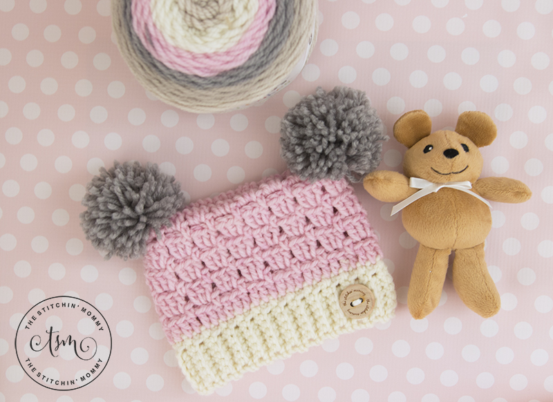 7466a34c017 Dusty Rose Sack Hat - Free Crochet Pattern in Several Sizes - The ...