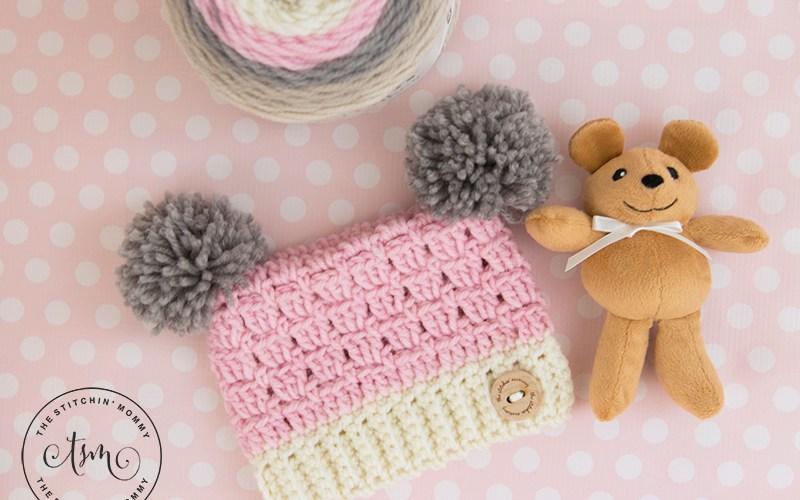 Dusty Rose Sack Hat – Free Crochet Pattern in Six Sizes