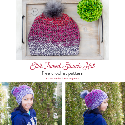 Elli's Tweed Slouch Hat – Free Crochet Pattern