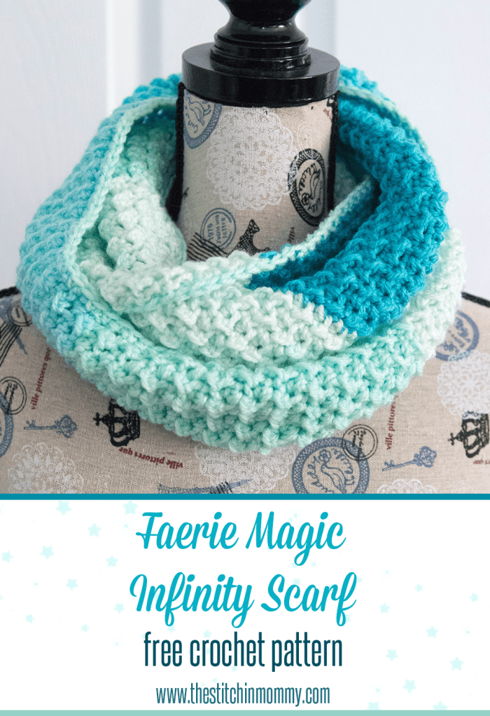 Faerie Magic Infinity Scarf Free Crochet Pattern The