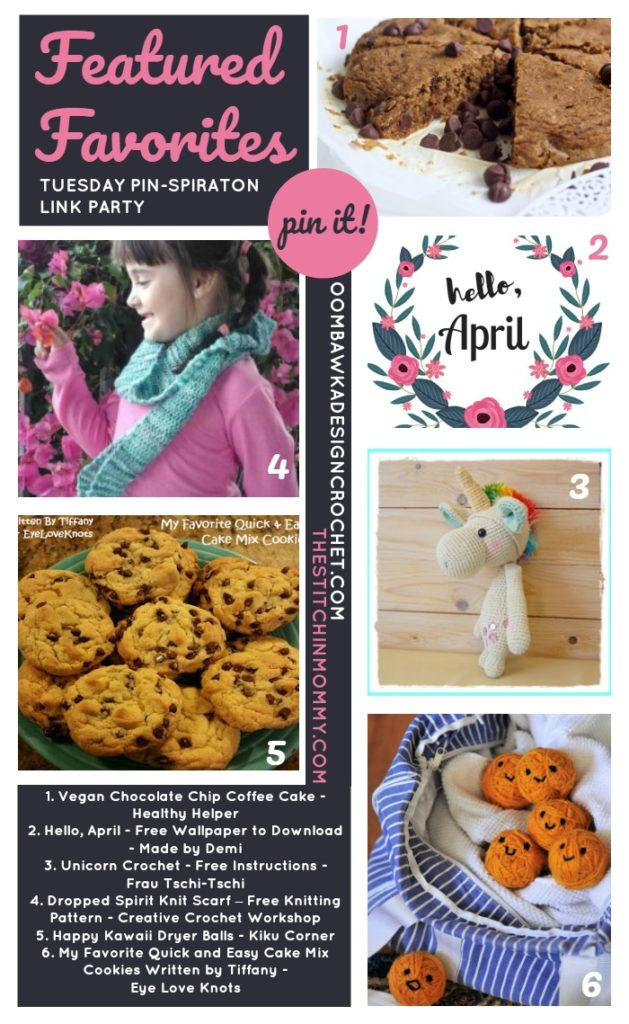 The NEW Tuesday PIN-spiration Link Party Week 32 (4/10/2017) - Rhondda and Amy's Favorite Projects | www.thestitchinmommy.com