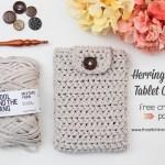 Herringbone Tablet Cover – Free Crochet Pattern