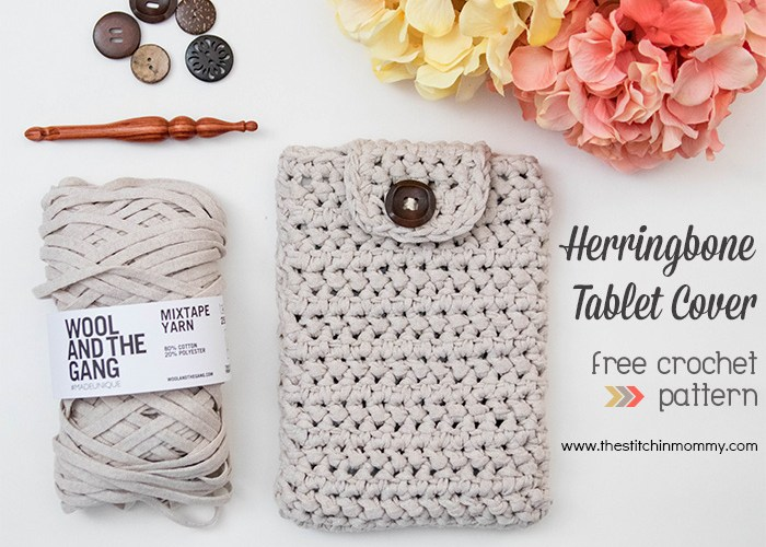 Herringbone Tablet Cover – Free Crochet Pattern