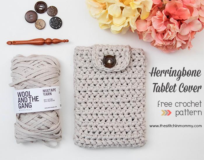 Herringbone tablet cover free crochet pattern the stitchin mommy herringbone tablet cover free crochet pattern thestitchinmommy dt1010fo