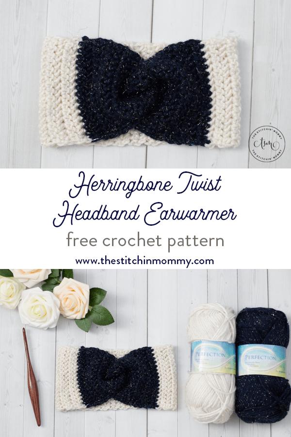 Herringbone Twist Headband Earwarmer - Free Crochet Pattern