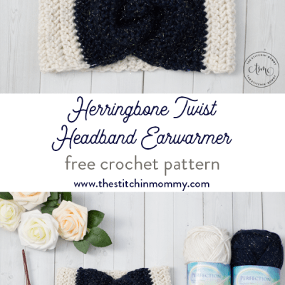 Herringbone Twist Headband Earwarmer – Free Crochet Pattern