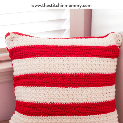 Holiday Striped Pillow – Free Crochet Pattern