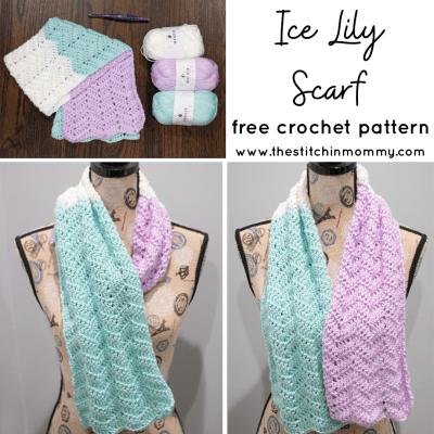 Ice Lily Scarf Free Crochet Pattern