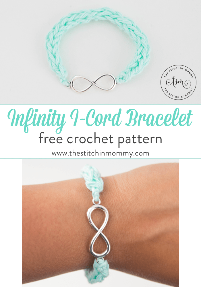 Infinity I Cord Bracelet Free Crochet Pattern The Stitchin Mommy