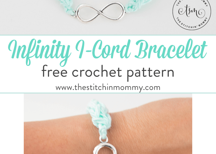 Infinity I-Cord Bracelet – Free Crochet Pattern