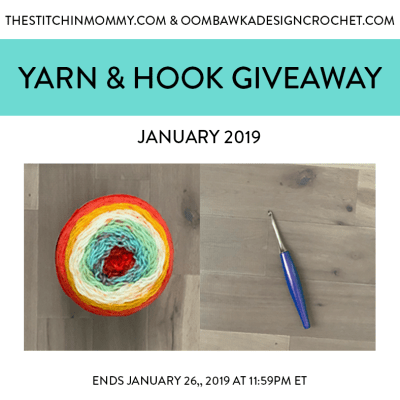 Monthly Yarn and Hook Giveaway – January 2019 featuring Furls and Lion Brand Yarn