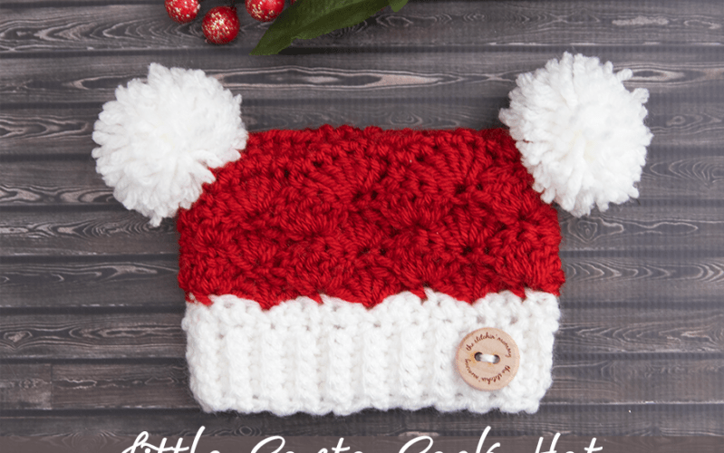 Santa's Little Sack Hat – Free Crochet Pattern in 8 Sizes