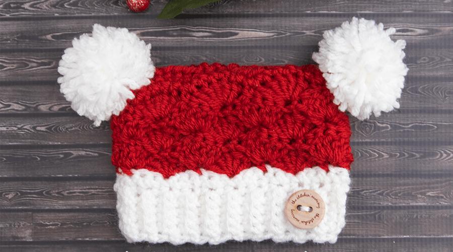 Santa's Little Sack Hat – Free Crochet Pattern in 8 Sizes
