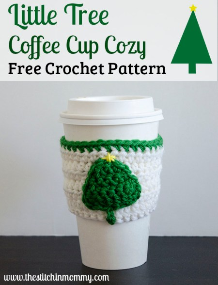 Little Tree Coffee Cup Cozy - Free Crochet Pattern #BlogHopCAL2016 | www.thestitchinmommy.com