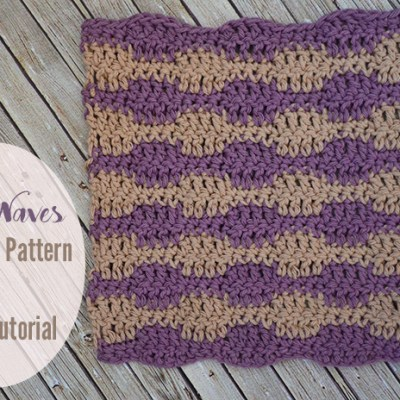Little Waves Dishcloth Pattern and Stitch Tutorial