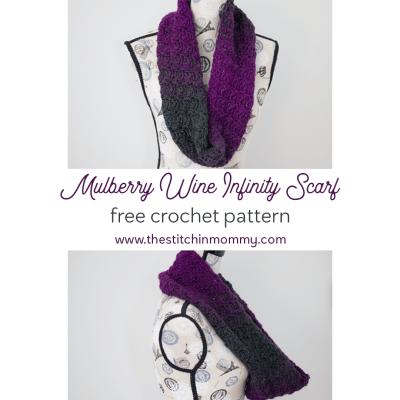 Mulberry Wine Infinity Scarf – Free Crochet Pattern