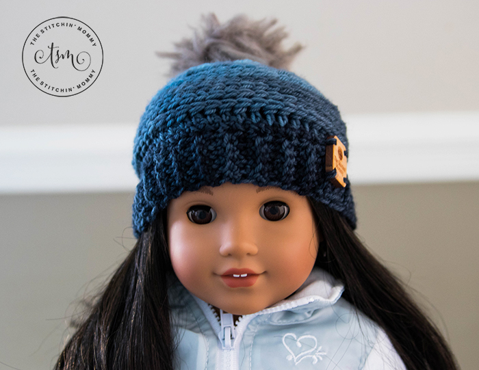 My Favorite Beanie 18 Inch Doll Hat Free Crochet Pattern The