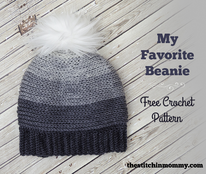 My Favorite Beanie - Free Crochet Pattern | www.thestitchinmommy.com