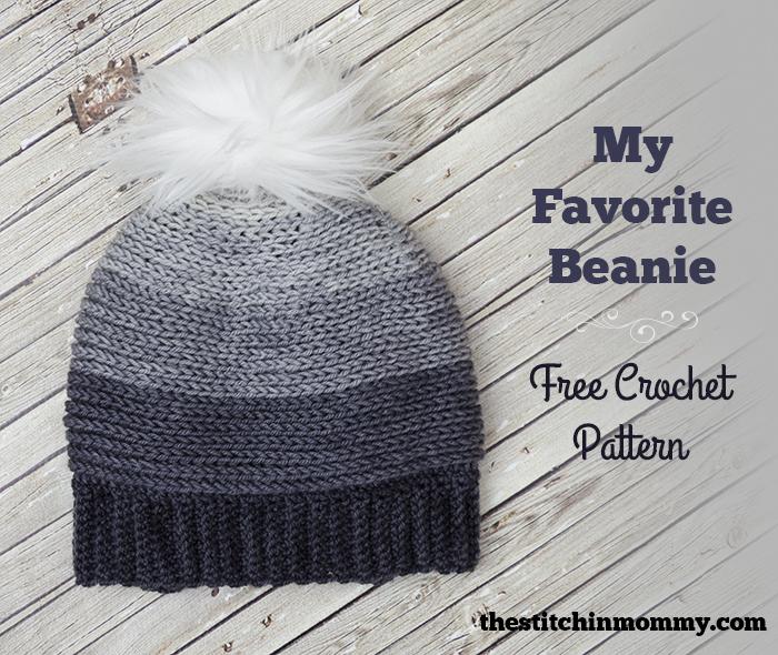 My Favorite Beanie Free Crochet Pattern The Stitchin Mommy