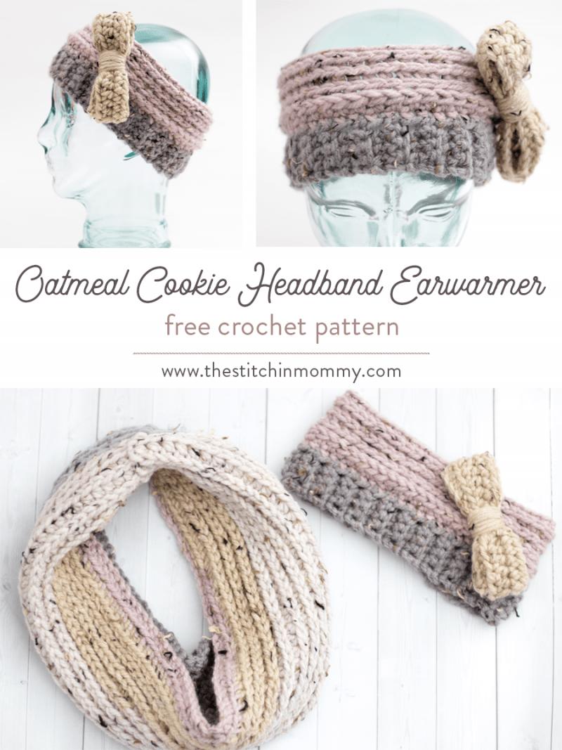 Oatmeal Cookie Headband Earwarmer Free Crochet Pattern The
