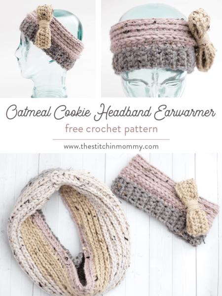 Oatmeal Cookie Headband Earwarmer - Free Crochet Pattern | www.thestitchinmommy.com #CALCentralCrochet