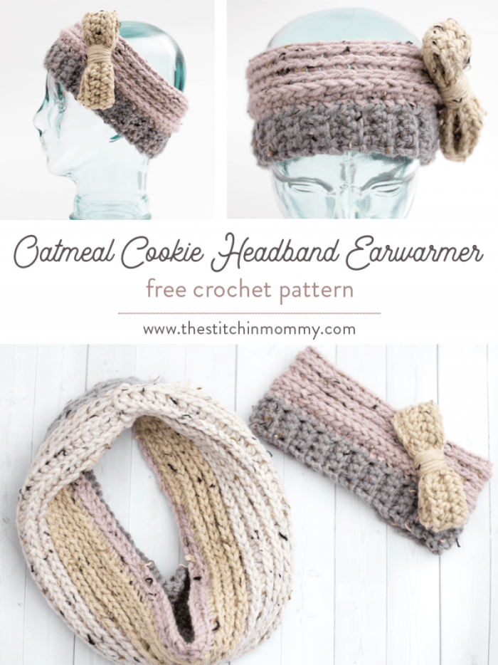 Oatmeal Cookie Headband Earwarmer Free Crochet Pattern The